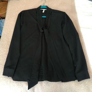 BCBGeneration Black Long Sleeve Blouse